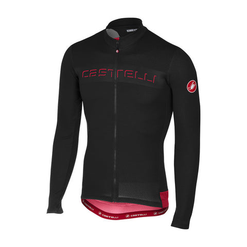 CASTELLI PROLOGO V LONG SLEEVE FZ - BLACK