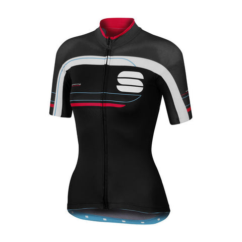 SPORTFUL WOMEN'S GRUPPETTO W JERSEY - BLACK/ANTHRACITE/PINK