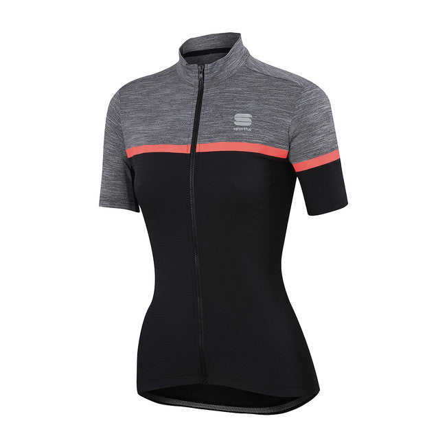 SPORTFUL WOMEN'S GIARA JERSEY - BLACK/ANTHRACITE