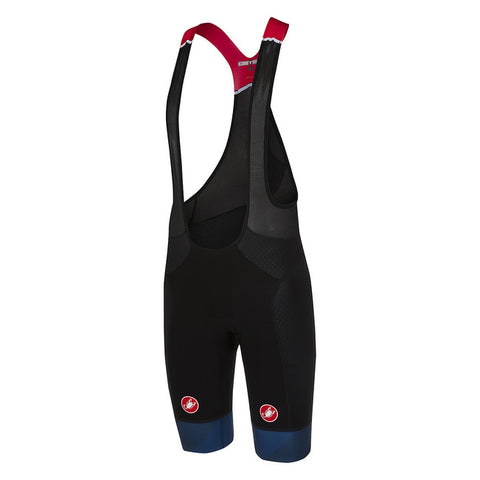 CASTELLI FREE AERO RACE BIBSHORT KIT VERSION - BLACK/DARK INFINITY BLUE