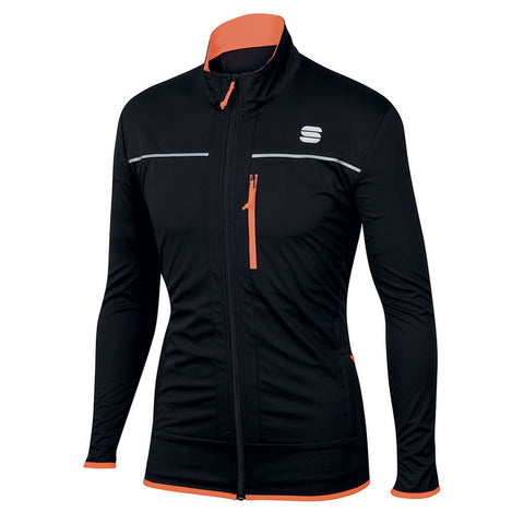 SPORTFUL ENGADIN WIND JACKET - BLACK/ORANGE SDR