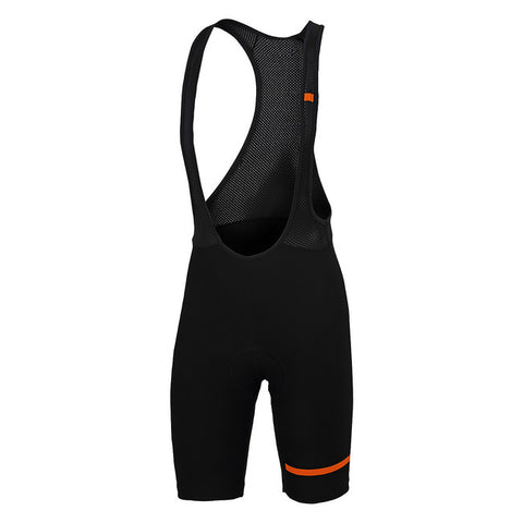 SPORTFUL GIARA BIBSHORT - BLACK/ORANGE