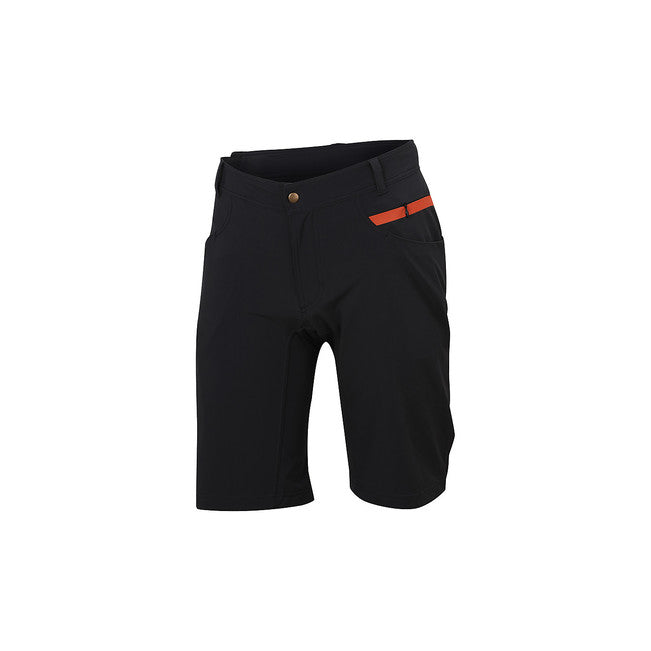SPORTFUL GIARA OVERSHORT  - BLACK/ORANGE