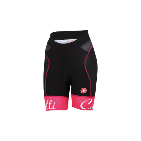 CASTELLI WOMEN'S FREE AERO W SHORT - BLACK/RASPBERRY