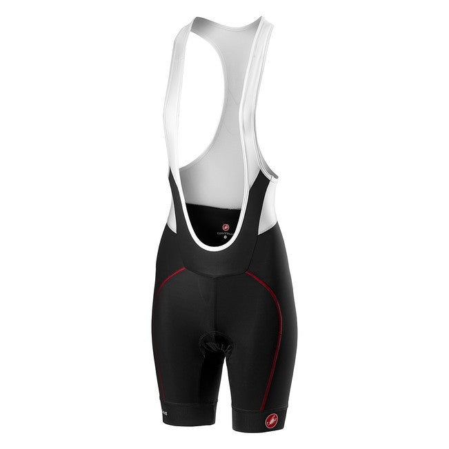 CASTELLI WOMEN'S VELOCISSIMA BIBSHORT - BLACK/RED