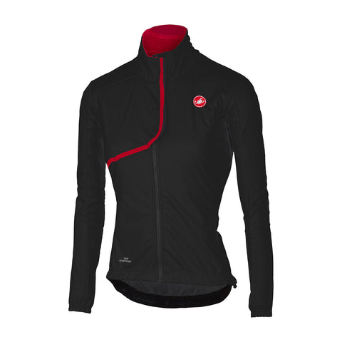 CASTELLI WOMEN'S INDISPENSABILE JACKET - BLACK/RED