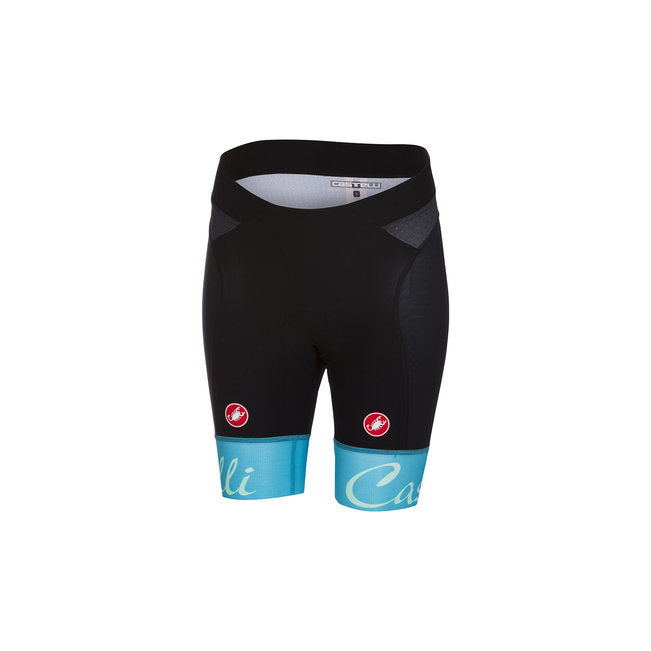 CASTELLI WOMEN'S FREE AERO W SHORT - BLACK/SKY BLUE