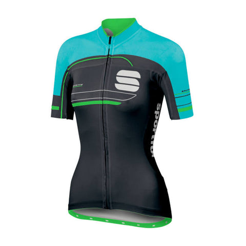 SPORTFUL WOMEN'S GRUPPETTO W JERSEY - BLACK/TURQUOISE