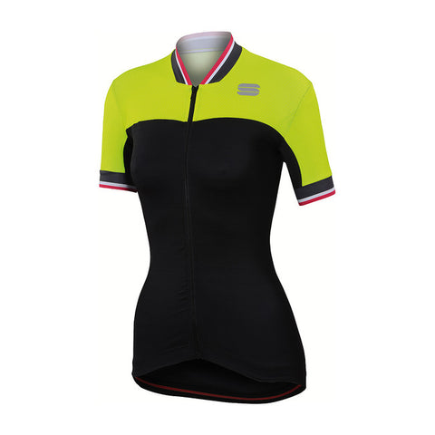 SPORTFUL GRACE JERSEY - BLACK/YELLOW FLUO