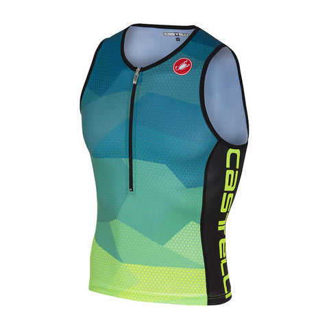 CASTELLI CORE 2 TOP - BLUE/YELLOW FLUO