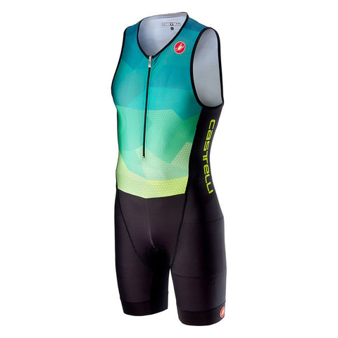 CASTELLI CORE TRI SUIT - BLUE/YELLOW FLUO