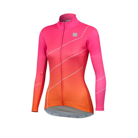 SPORTFUL SHADE WOMAN LONG SLEEVE JERSEY - BUBBLEGUM/ORANGE SDR