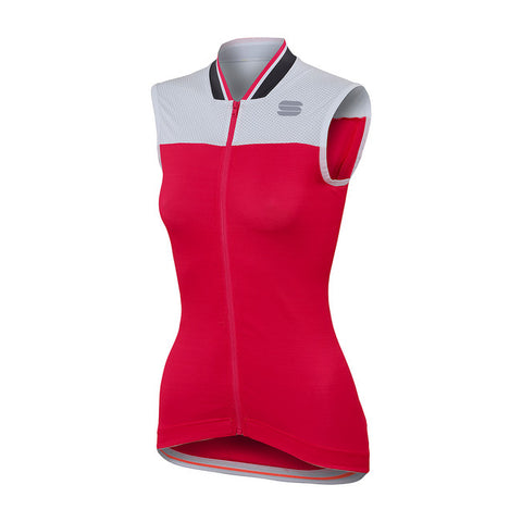 SPORTFUL GRACE SLEEVELESS - CHERRY/WHITE