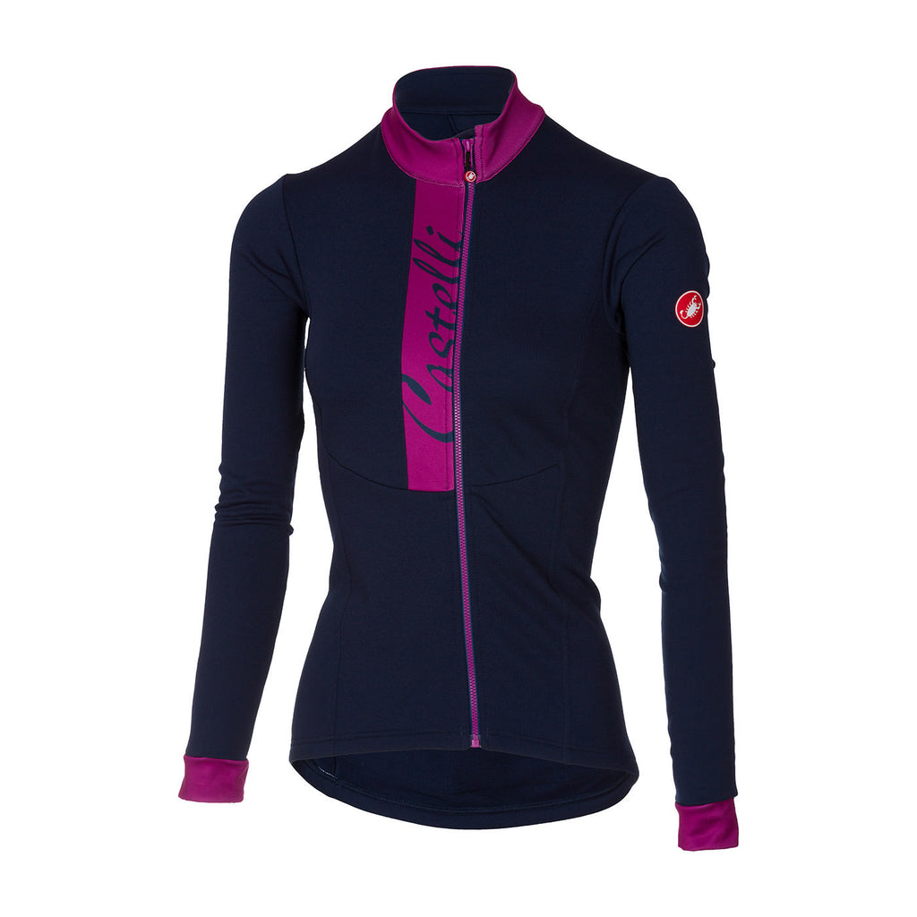 CASTELLI WOMEN'S SORRISO JERSEY - DRESS BLUE/ORCHID
