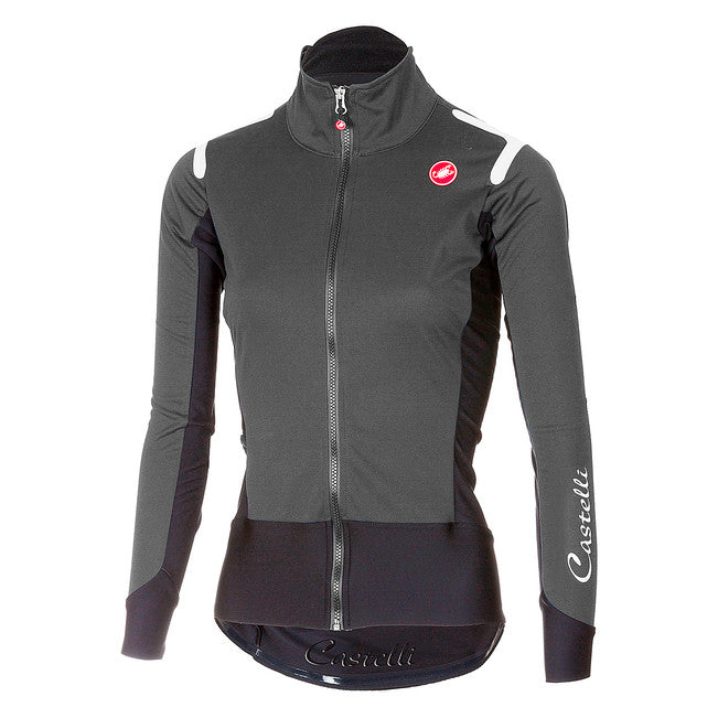CASTELLI WOMEN'S ALPHA ROS W LIGHT JACKET - GREY/BLACK