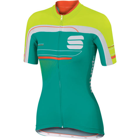 SPORTFUL WOMEN'S GRUPPETTO W JERSEY - GREEN/WHITE/YELLOW (Sample)