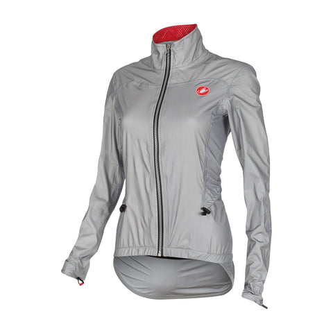 CASTELLI DONNINA RAIN JACKET - grey