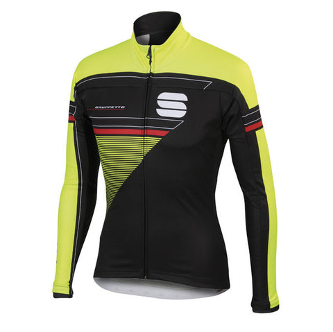 SPORTFUL GRUPPETTO PARTIAL WS JACKET - BLACK/YELLOW FLUO (Sample)