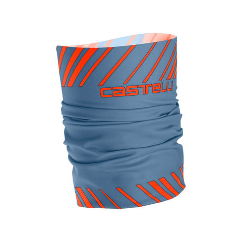 CASTELLI ARRIVO 3 THERMO HEAD THINGY LIGHT STEEL BLUE-ORANGE