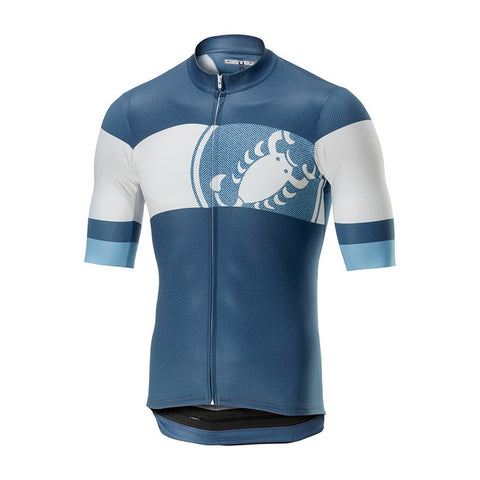 CASTELLI RUOTA JERSEY FZ - LIGHT STEEL BLUE