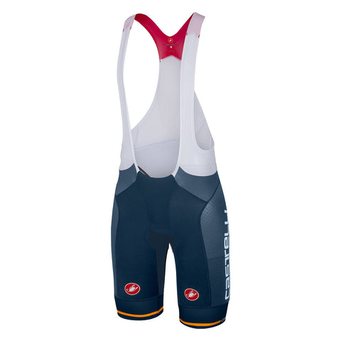 CASTELLI FREE AERO RACE BIBSHORT - MIDNIGHT NAVY/ORANGE