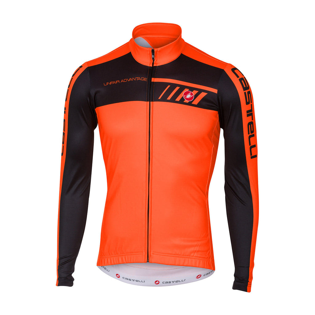 CASTELLI VELOCISSIMO JERSEY FZ - ORANGE/BLACK