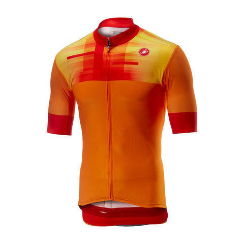 CASTELLI A BLOC JERSEY FZ - ORANGE