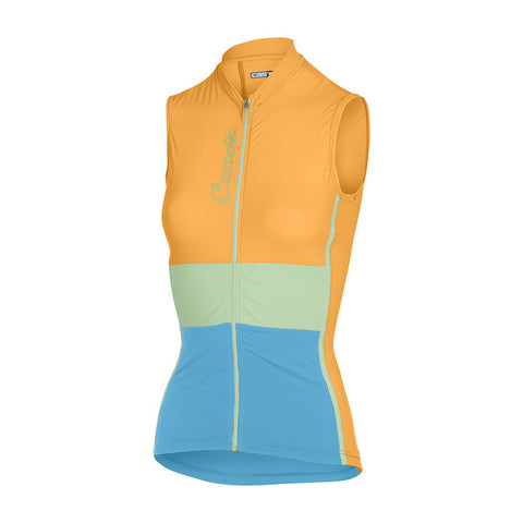 CASTELLI WOMEN'S PROTAGONISTA SLEEVELESS - ORANGE