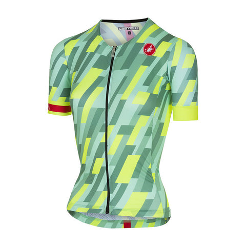 CASTELLI WOMEN'S FREE SPEED W RACE JERSEY - PASTEL MINT/YELLOW FLUO