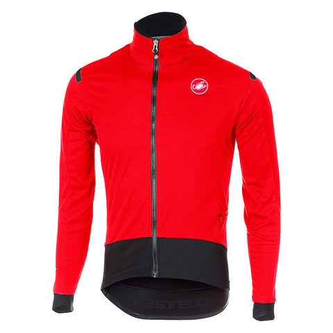 CASTELLI ALPHA ROS LIGHT JACKET - RED/BLACK