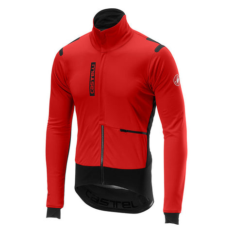 CASTELLI ALPHA ROS JACKET - RED/BLACK