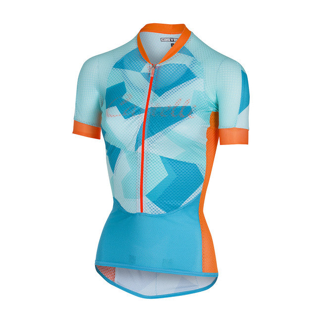 CASTELLI WOMEN'S CLIMBER'S W JERSEY - SKY BLUE/ORANGE