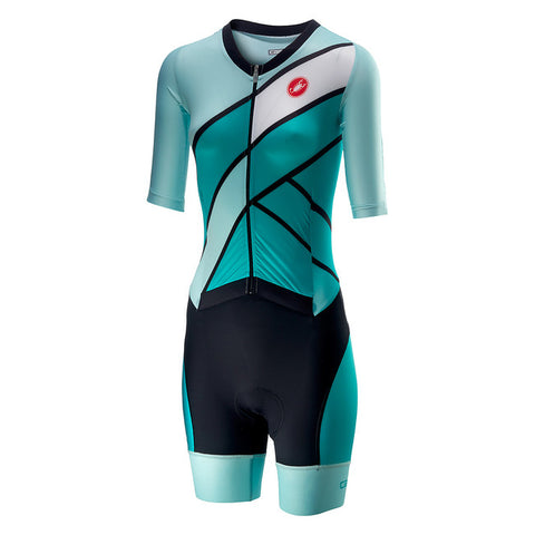 CASTELLI WOMEN'S ALL OUT W SPEED SUIT - TURQUOISE-GREEN