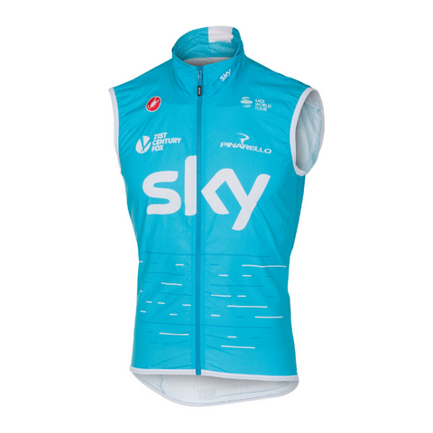 CASTELLI 2017 TEAM SKY PRO LIGHT WIND VEST - SKY BLUE