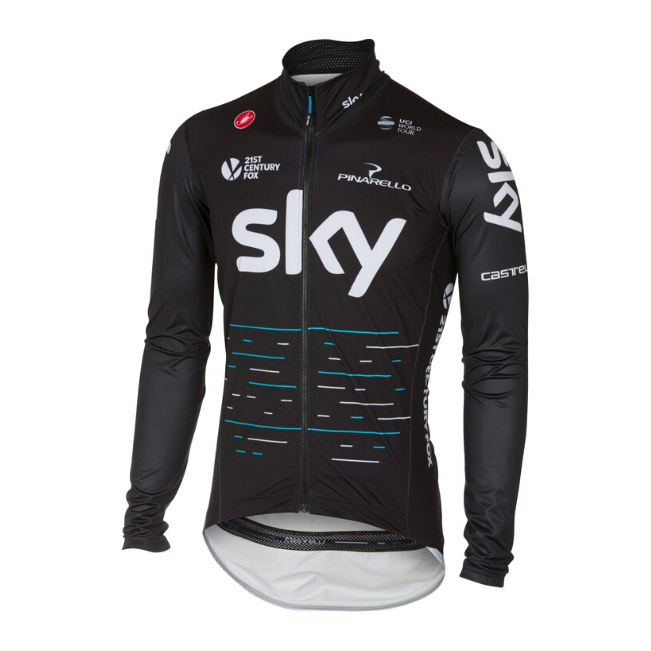 CASTELLI 2017 TEAM SKY PRO FIT LIGHT RAIN JACKET