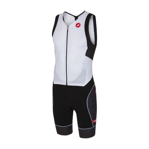 CASTELLI FREE SANREMO SUIT SLEEVELESS - WHITE/BLACK