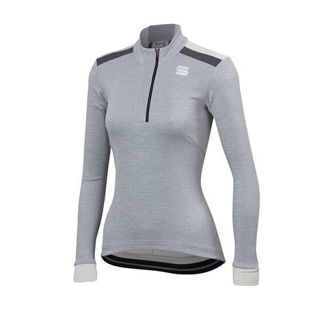 SPORTFUL WOMEN'S GIARA W THERMAL JERSEY - WHITE/ALASKA GREY