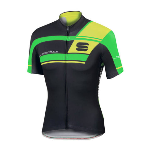 SPORTFUL GRUPPETTO PRO TEAM JERSEY - BLACK/GREEN FLUO (Sample)