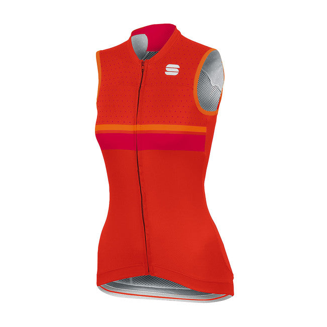 SPORTFUL DIVA SLEEVELESS JERSEY - FIRE RED