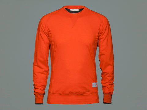 CHPT. 3 1.82 LONG SLEEVE WOOL BASE LAYER - FIRE RED