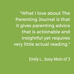 busy mom loves the parenting journal