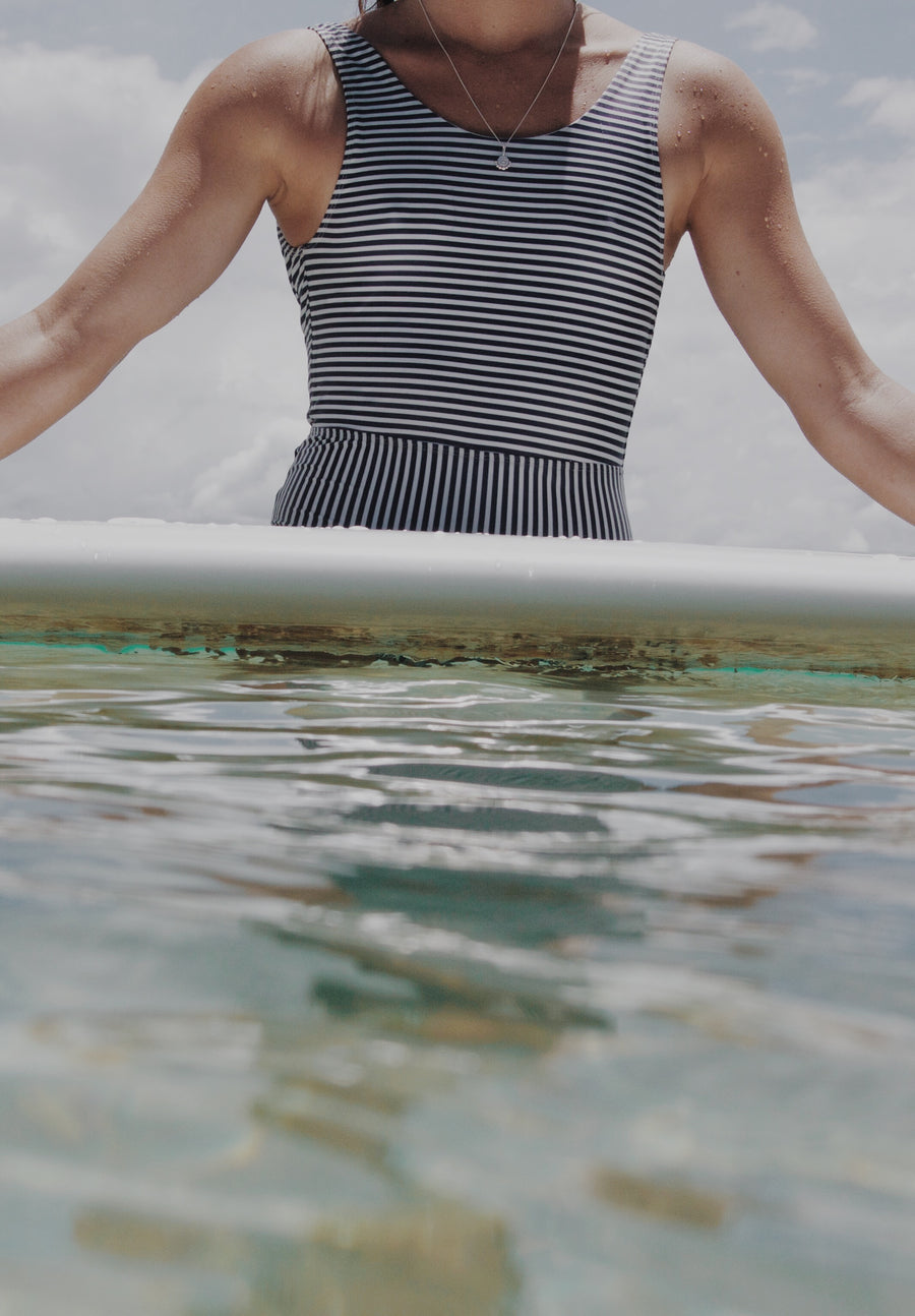 Mon Chéri One Piece - Navy Stripe