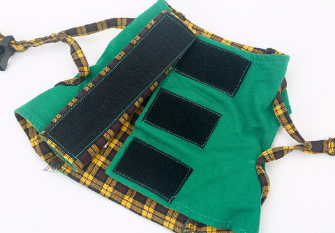 Cat Green/Yellow Bow Tie Harnesses