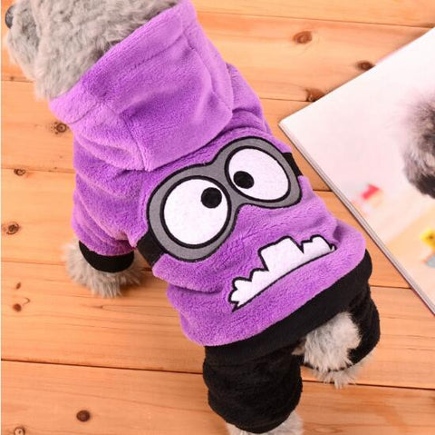 Purple Minion Dog Costume