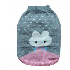 Bunny Knitted Sweater Grey