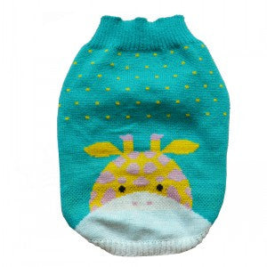 Giraffe Knitted Cat Sweater