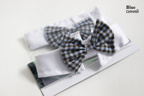 Cat/Dog Bow Ties Blue