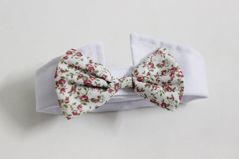 Cat/Dog Bow Ties Floral