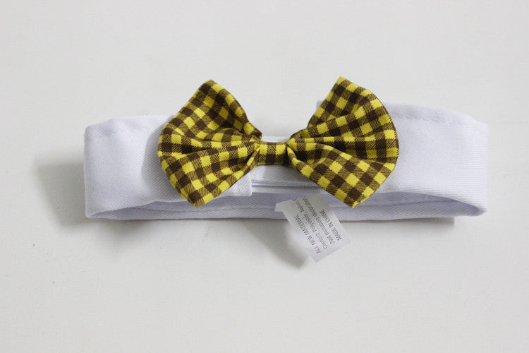 Cat/Dog Bow Ties Yellow