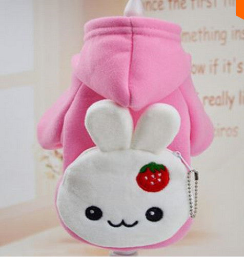 Strawberry Bunny Hoodie with Backpack